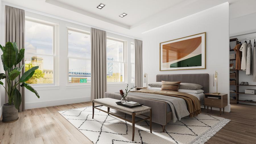 old city bi-level bedroom