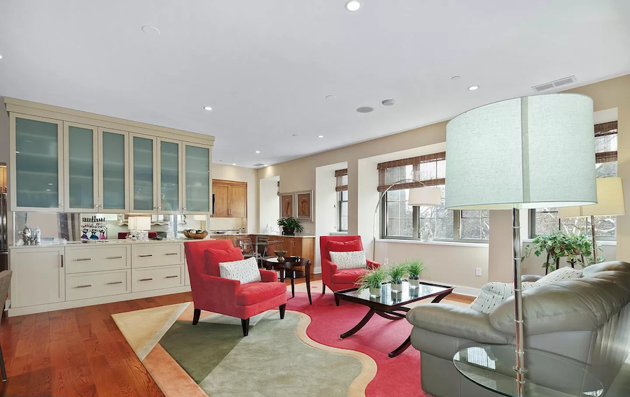 condo for sale rittenhouse parc rittenhouse condo living room and kitchen dining area