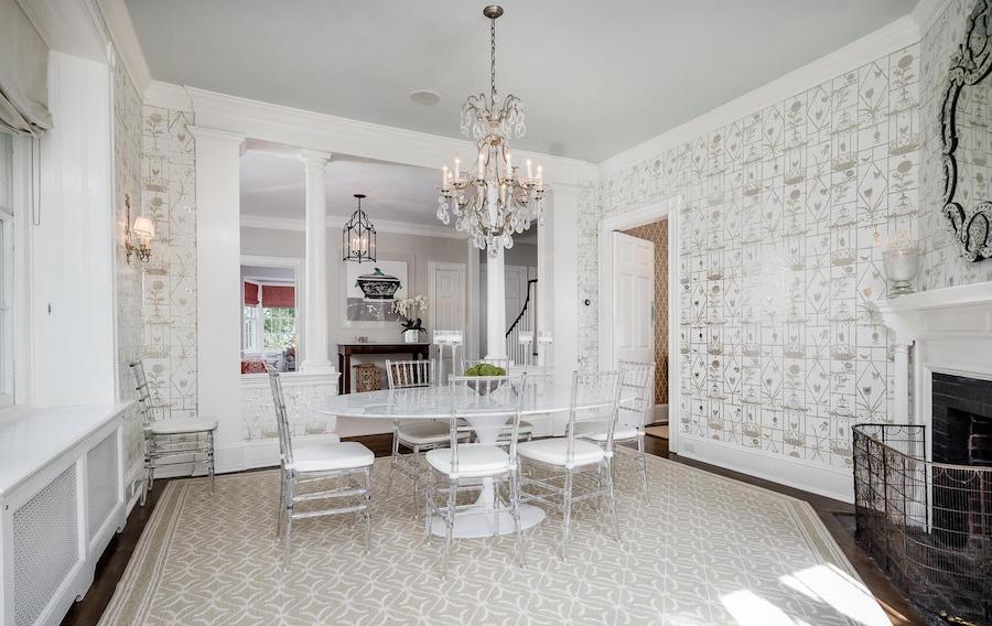 house for sale chestnut hill designer colonial dining room