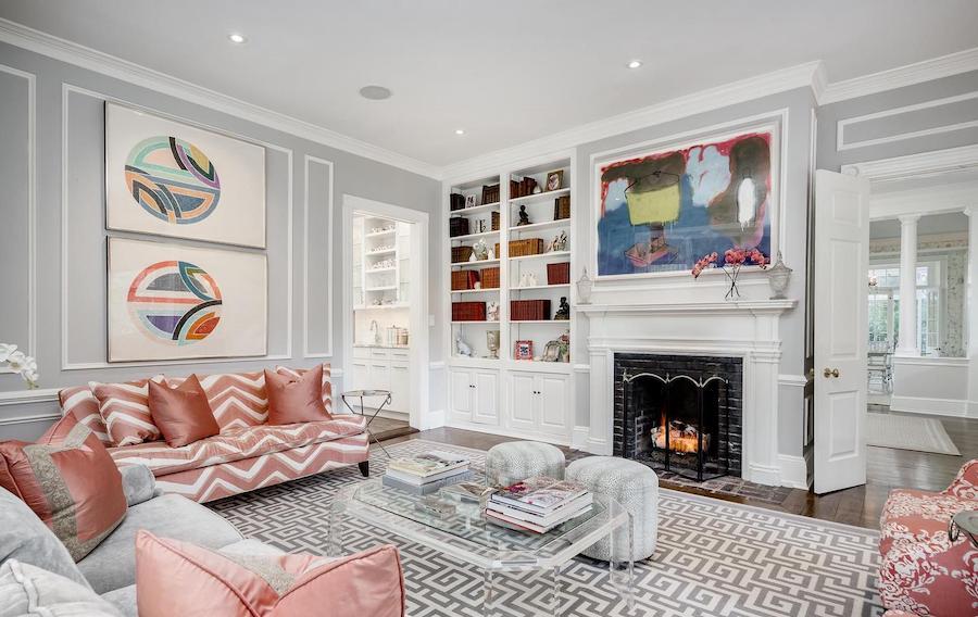 house for sale chestnut hill designer colonial living room