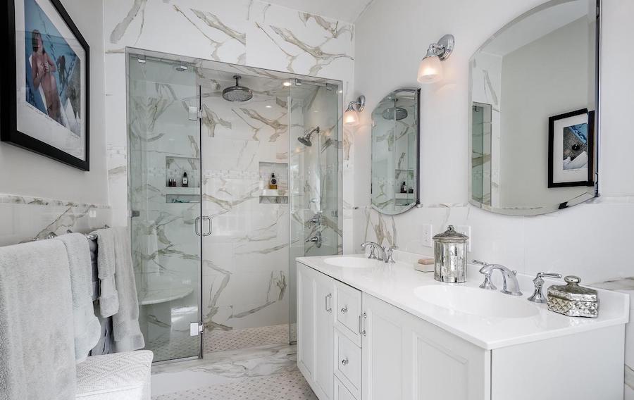 chestnut hill designer colonial master bathroom