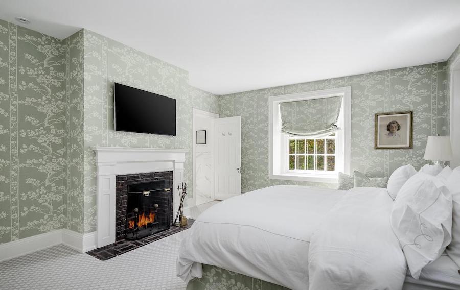 chestnut hill designer colonial master bedroom