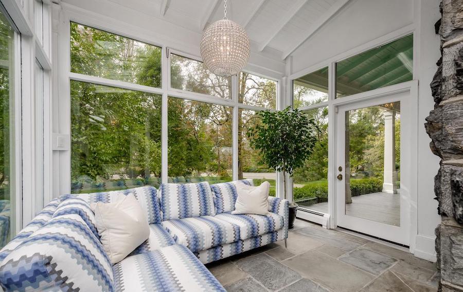 chestnut hill designer colonial side porch