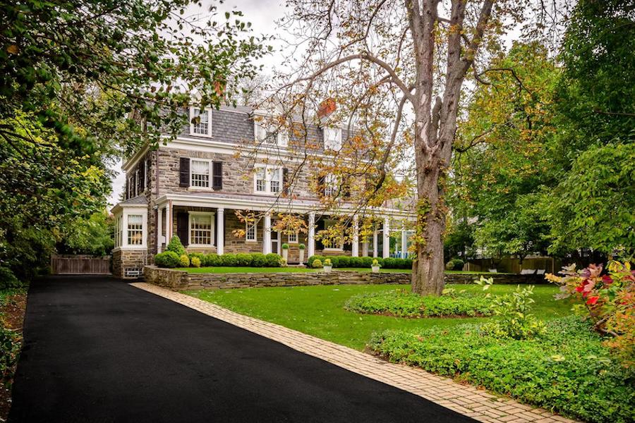house for sale chestnut hill designer colonial exterior front