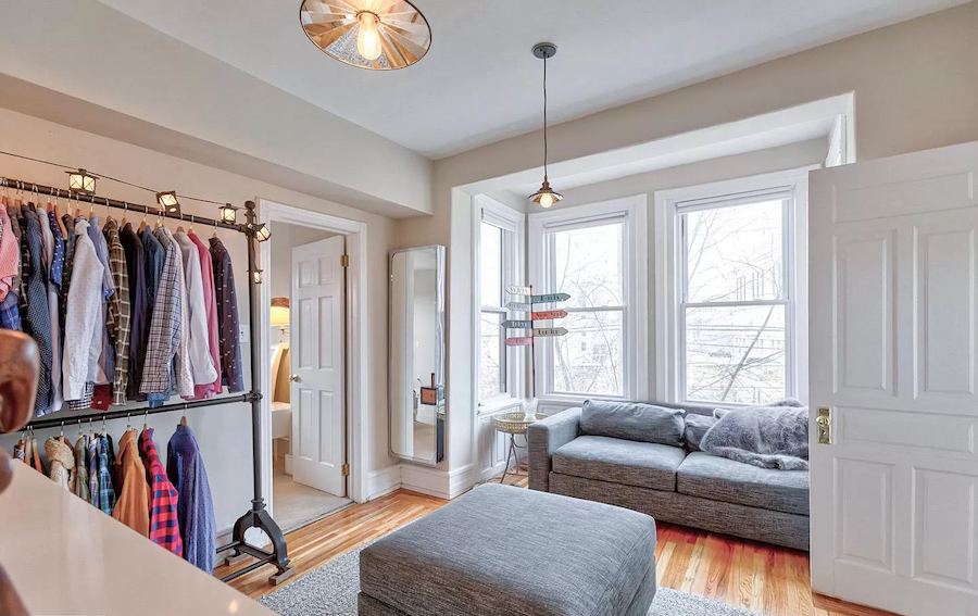 house for sale fairmount rehabbed rowhouse master suite dressing room