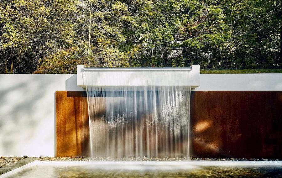 house for sale north hills restored midcentury modern backyard waterfall