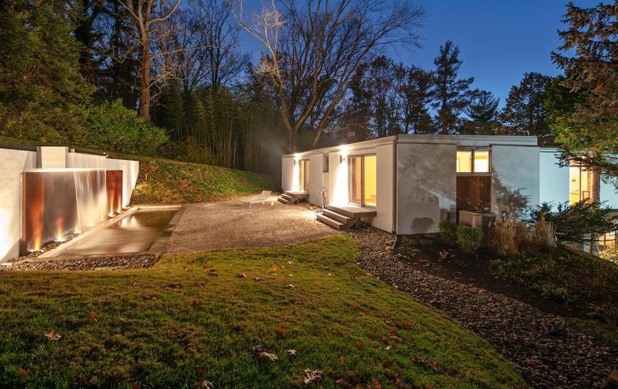 north hills restored midcentury modern rear patio and second-floor bedrooms