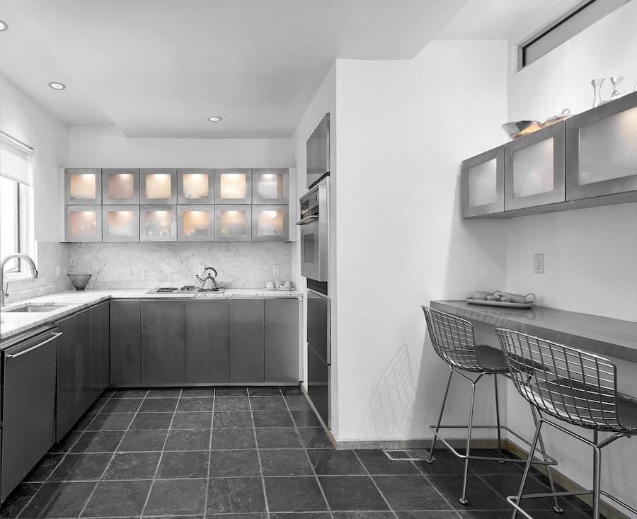 north hills restored midcentury modern kitchen