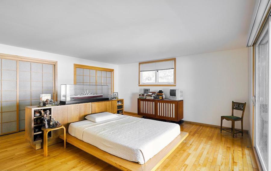 house for sale north hills restored midcentury modern master bedroom