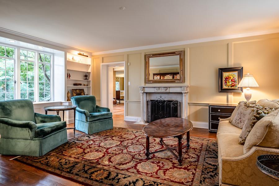 house for sale haverford emlen evans house living room