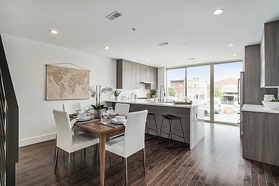 house for sale point breeze smith school townhouse dining room and kitchen