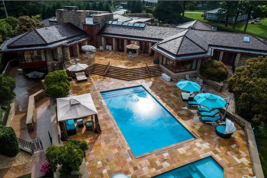 pottstown prairie style pool and patio