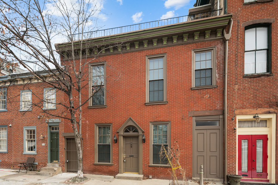 house for sale rittenhouse carriage house exterior front