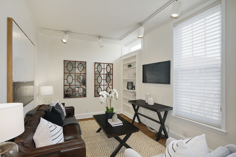 house for sale rittenhouse carriage house living room