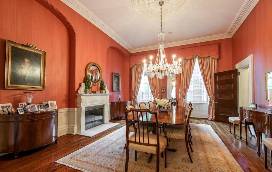 house for sale society hill federal townhouse dining room
