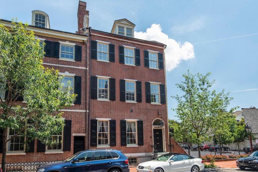 house for sale society hill federal townhouse exterior front