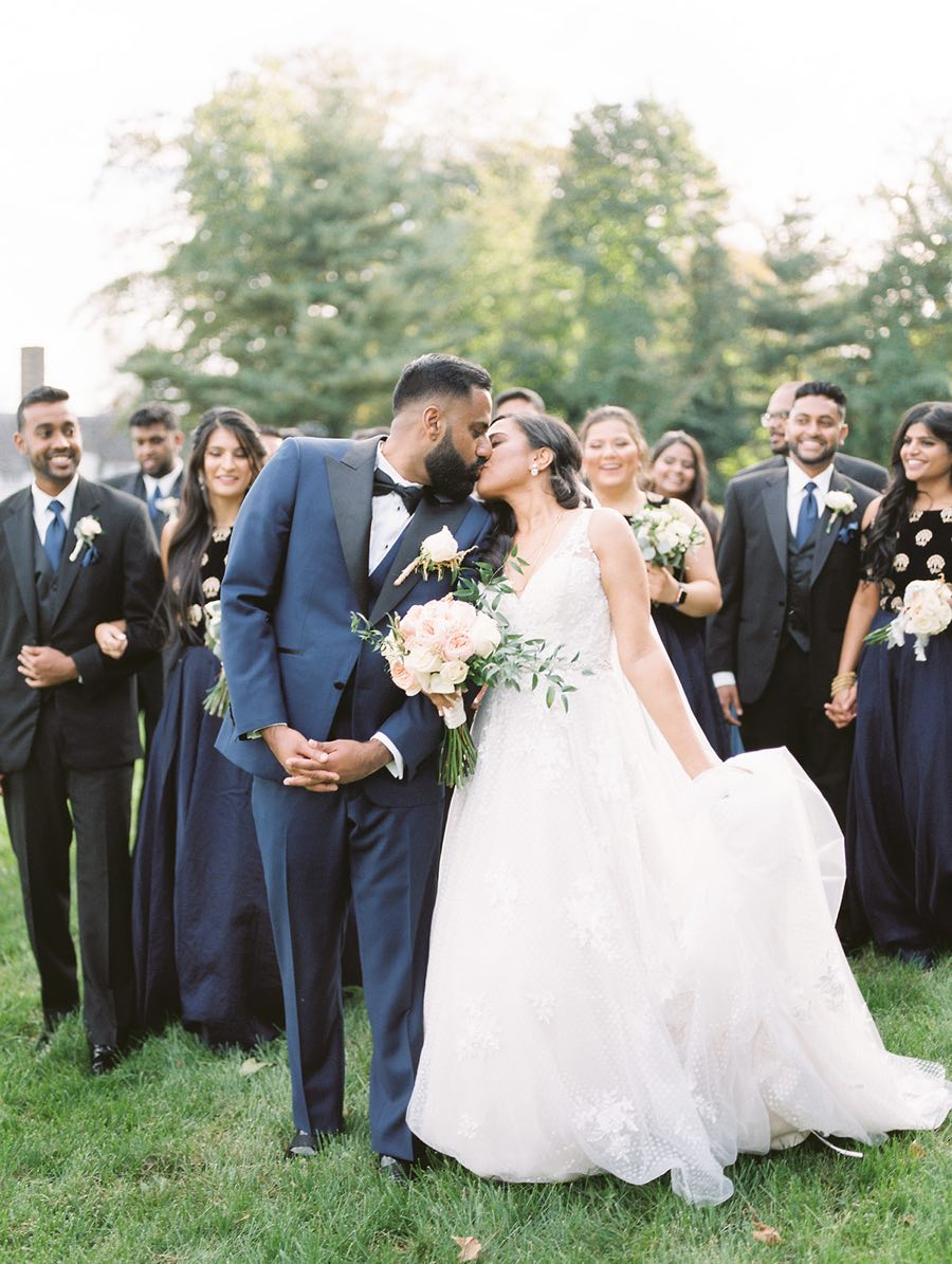 navy blue bridal party