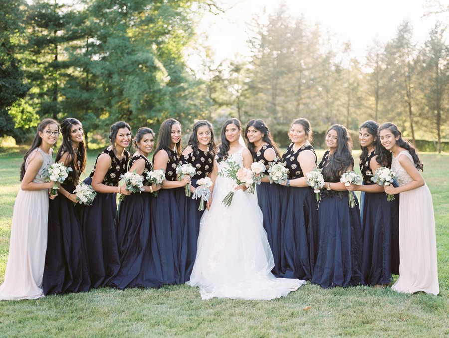 navy blue bridesmaids