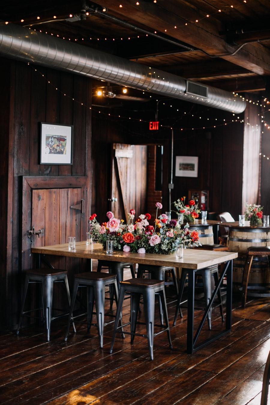 New Liberty Distillery industrial wedding venues