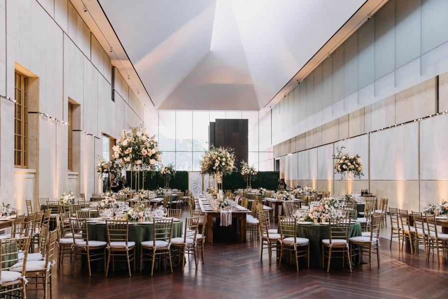 pink barnes foundation wedding