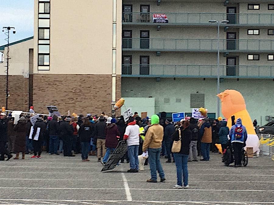 trump rally protest wildwood