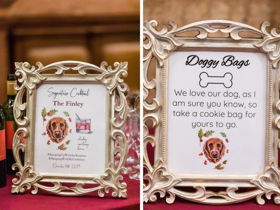 Dog wedding decor