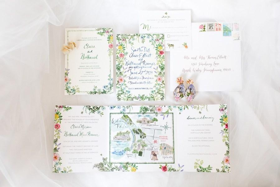 Ashley D. Studio wedding invitations