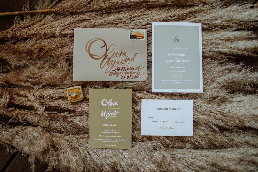 Charlie Whiskey wedding invitation