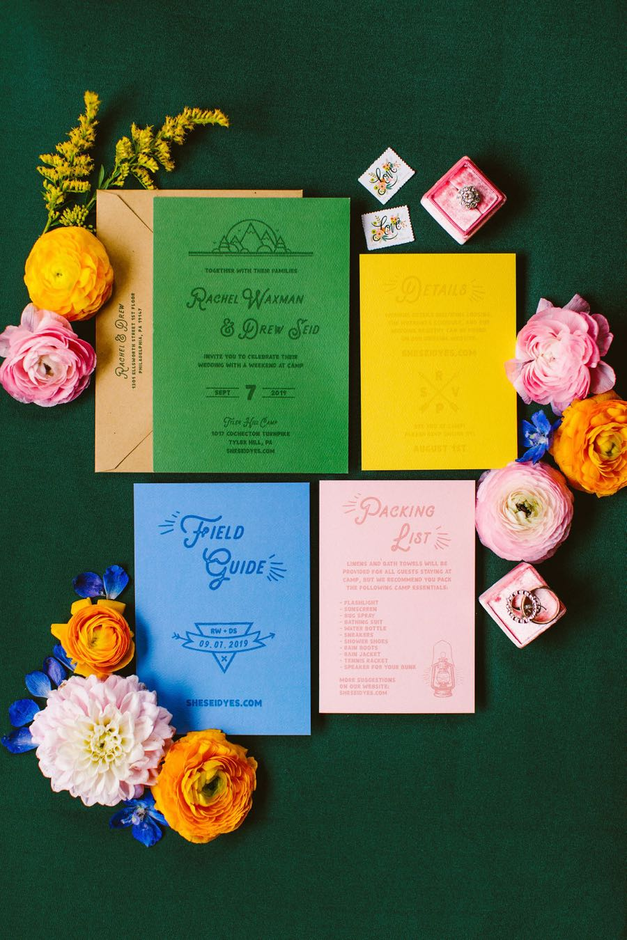 Clover Event Co. wedding invitations