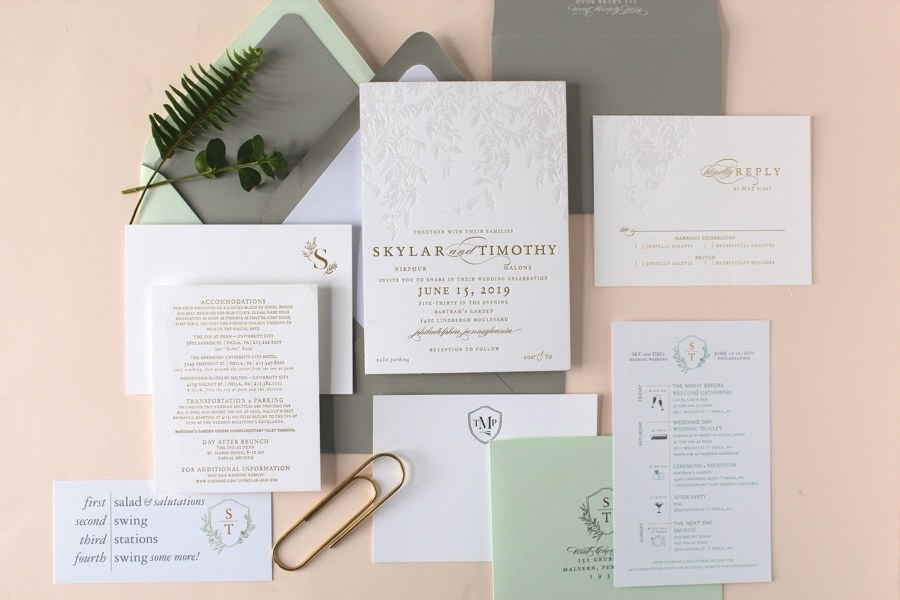 Fleurish Ink wedding invitation