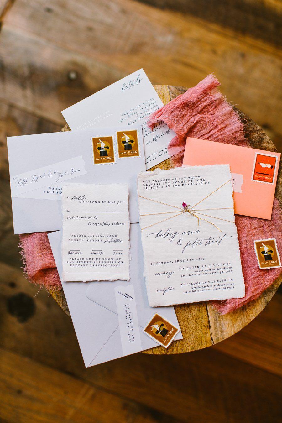 Rabbit Rabbit Crew wedding invitation