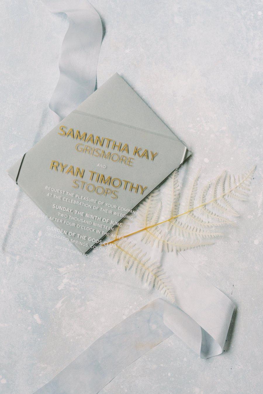April Lynn Designs wedding invitations