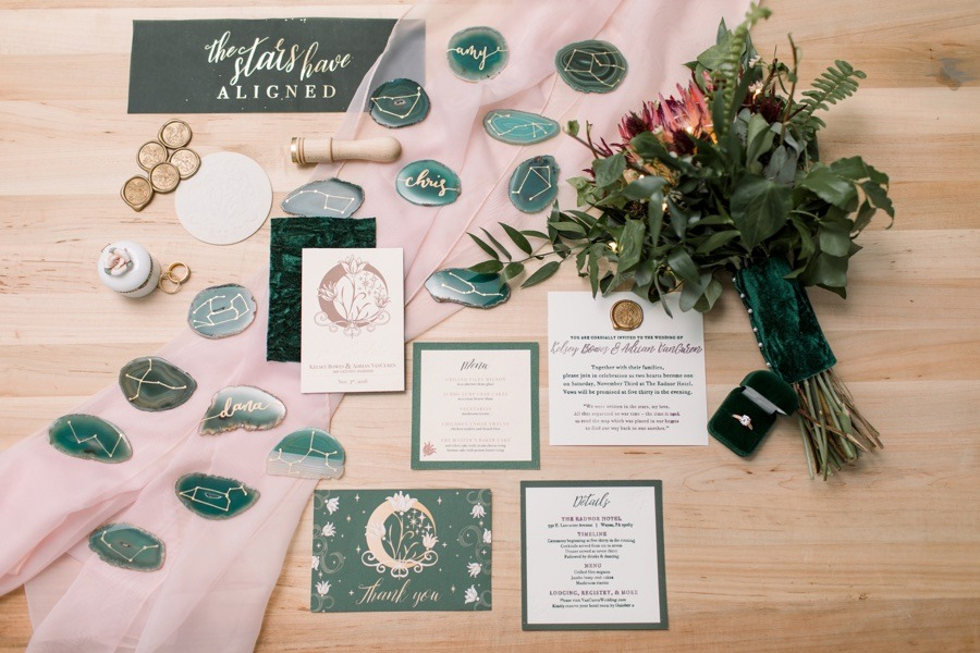 Bloom With Us Co. wedding invitations