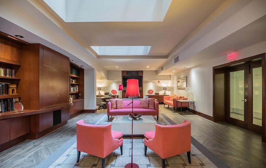 logan square phoenix loft condo media lounge and library