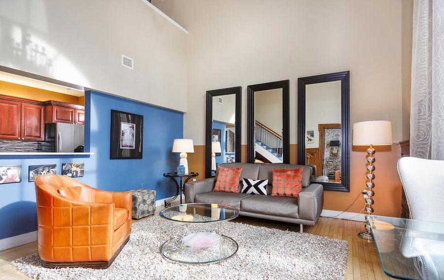logan square phoenix loft condo for sale living room