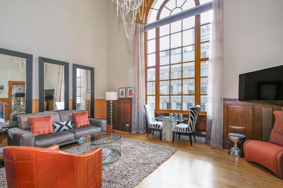 phoenix condo for sale logan square loft living room
