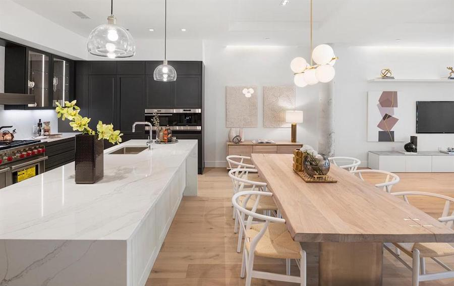 rittenhouse square new construction condo dining room and kitchen