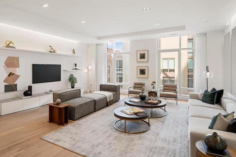 rittenhouse new construction condo for sale living room