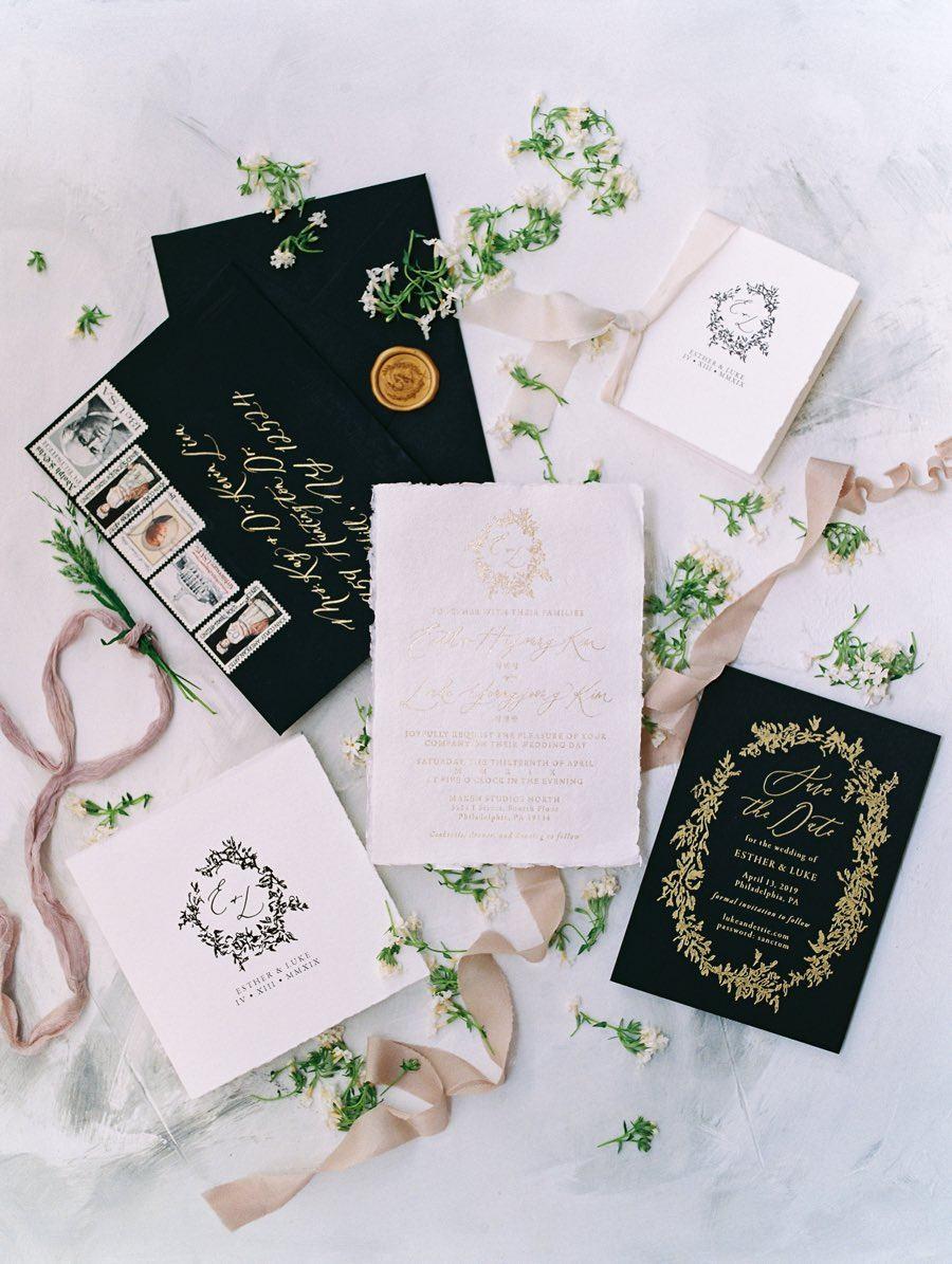 Ettie Kim Studio wedding invitation