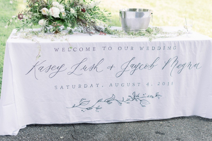 Ettie Kim wedding sign