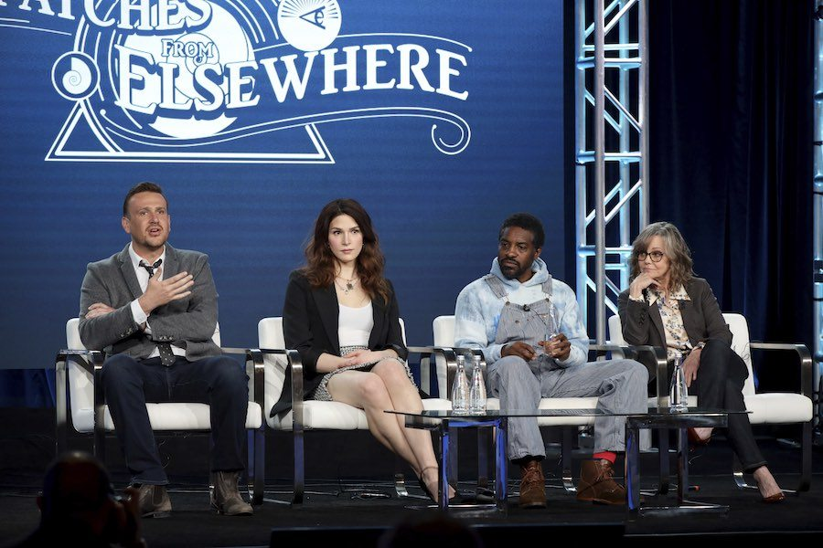 dispatches from elsewhere cast jason segel eve lindley andre 3000 and sally field