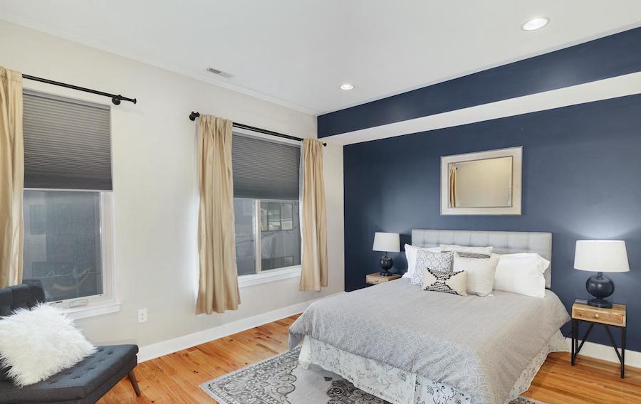 francisville newer bi-level master bedroom