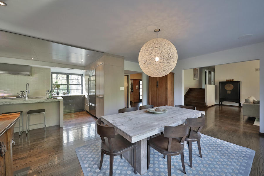 house for sale mt. airy midcentury modern split-level dining room