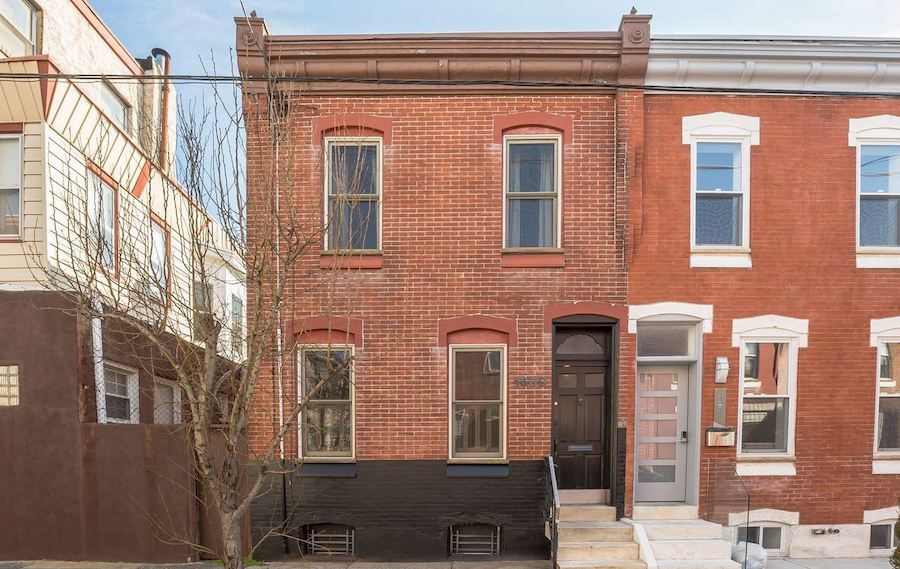 house for sale point breeze reclaimed rowhouse front elevation