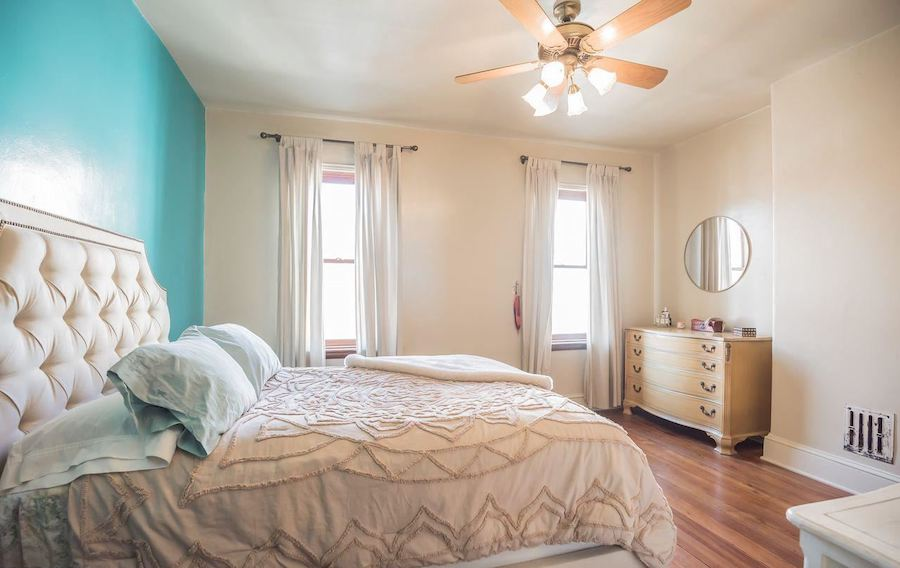 point breeze reclaimed row bedroom
