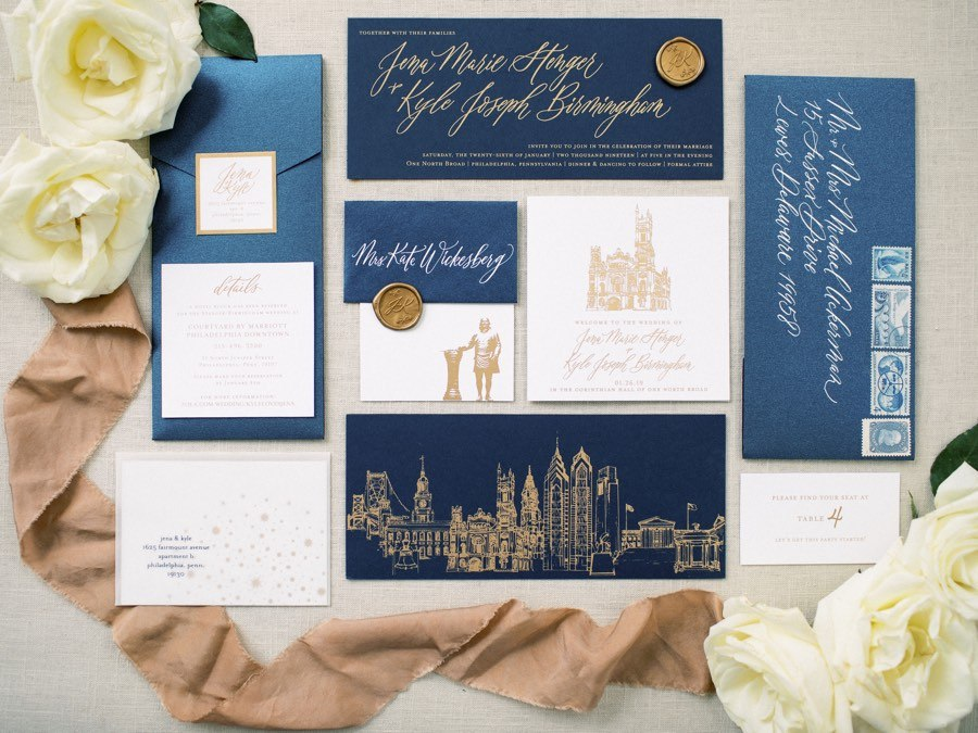 Lewes Lettering Co. wedding invitations