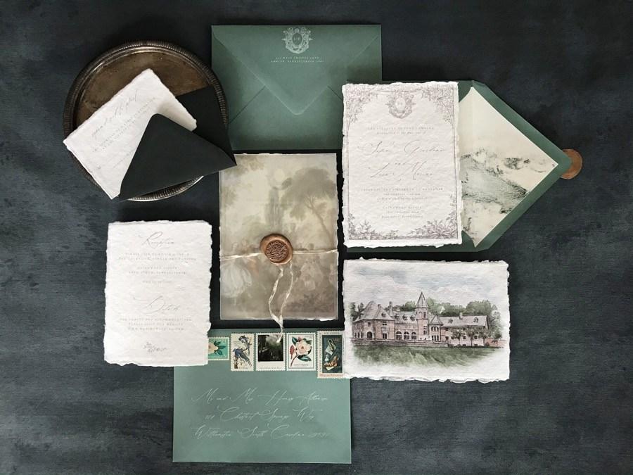 Papertree Studio wedding invitation