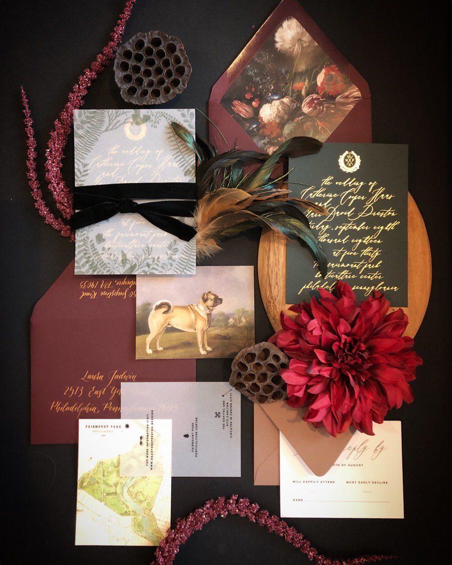 Shindig Bespoke wedding invitation