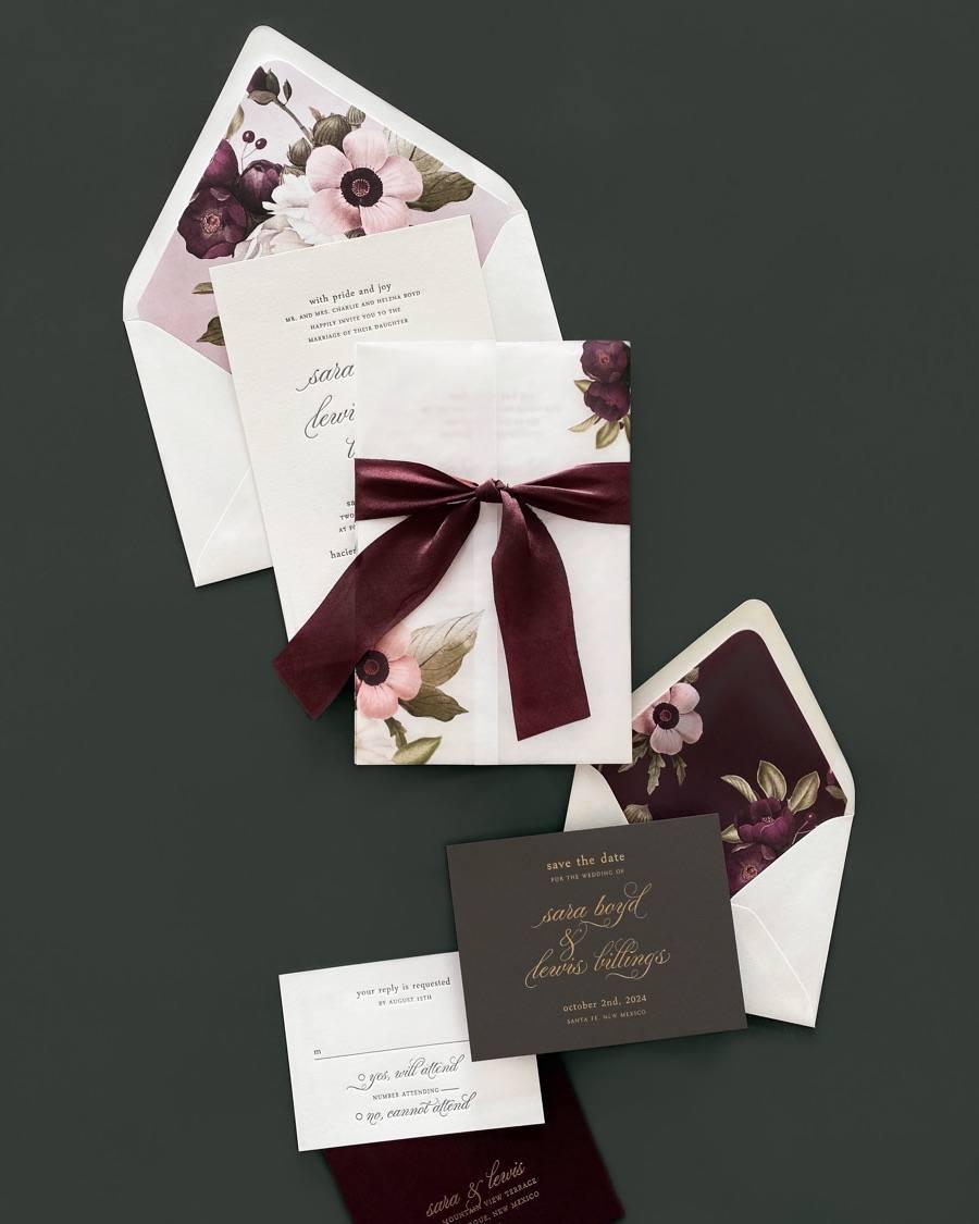 smitten on paper wedding invitation