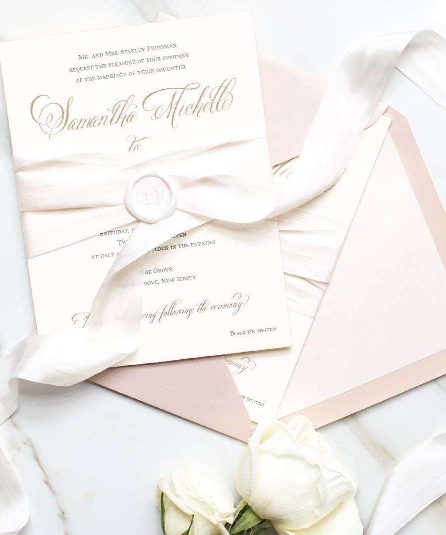 The Papery wedding invitation